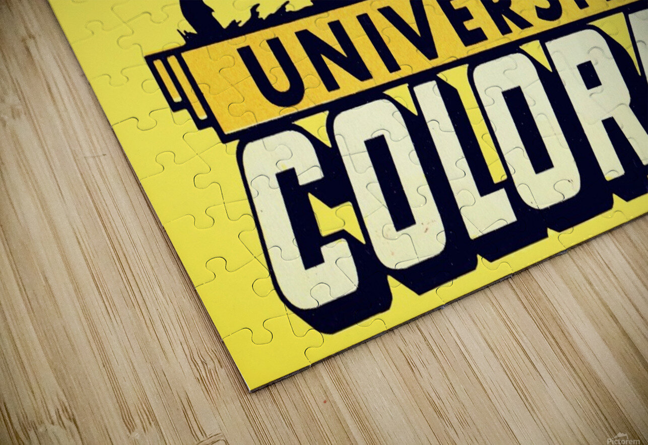 1950s vintage college art university of colorado buffaloes boulder HD Sublimation Metal print