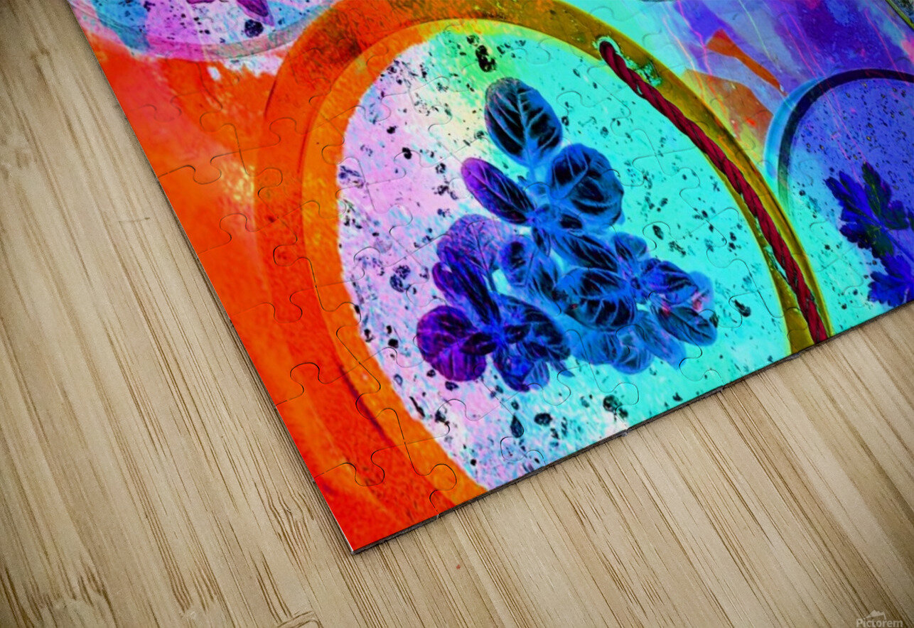 Psychedelic Herbs HD Sublimation Metal print