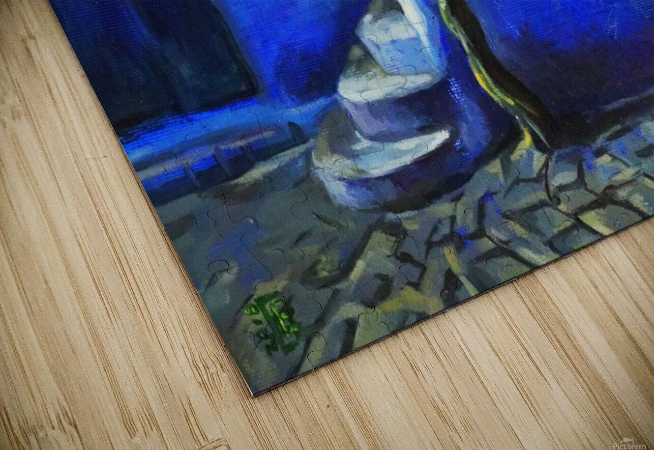 Blue city HD Sublimation Metal print