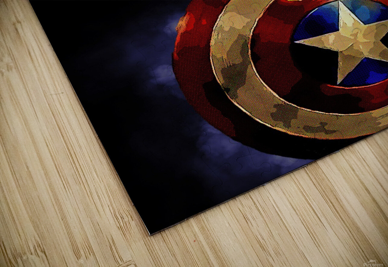 Captain America HD Sublimation Metal print