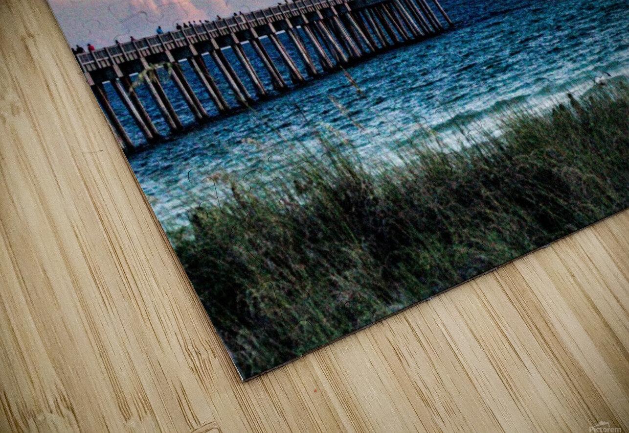 Sunset Beach HD Sublimation Metal print