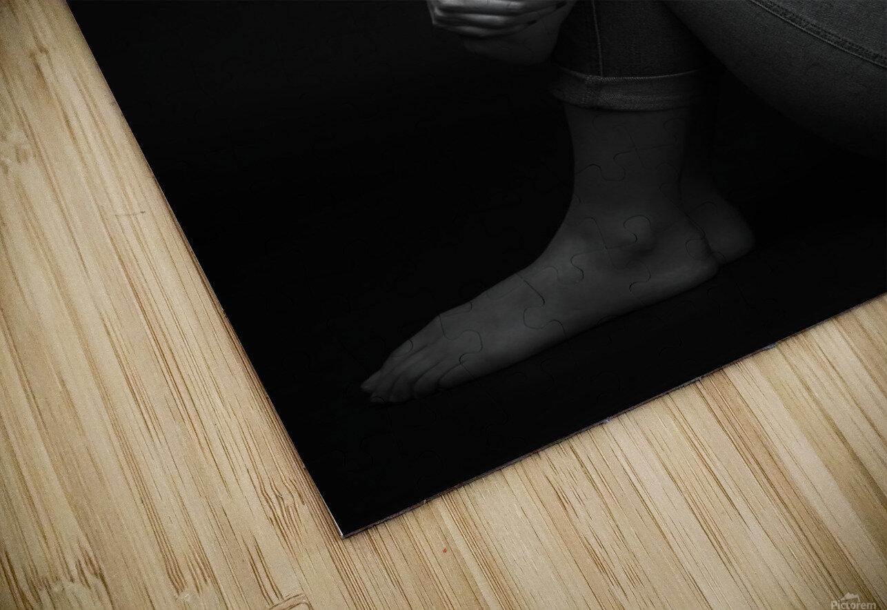 Black and White Woman Portrait 1 HD Sublimation Metal print