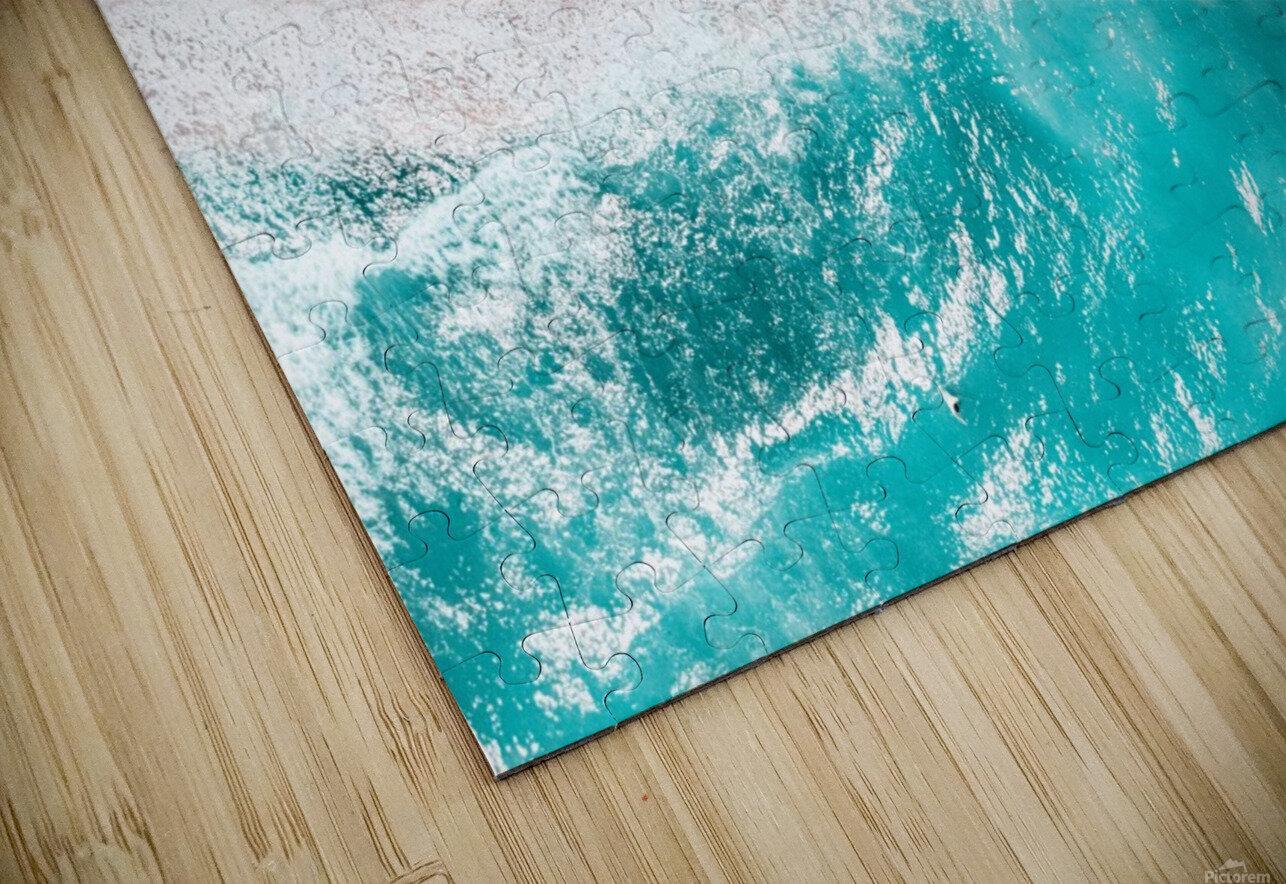 Aerial Ocean Print Beach Print Aerial Beach Print Round Umbrellas Beach Photography Sea Art Print HD Sublimation Metal print