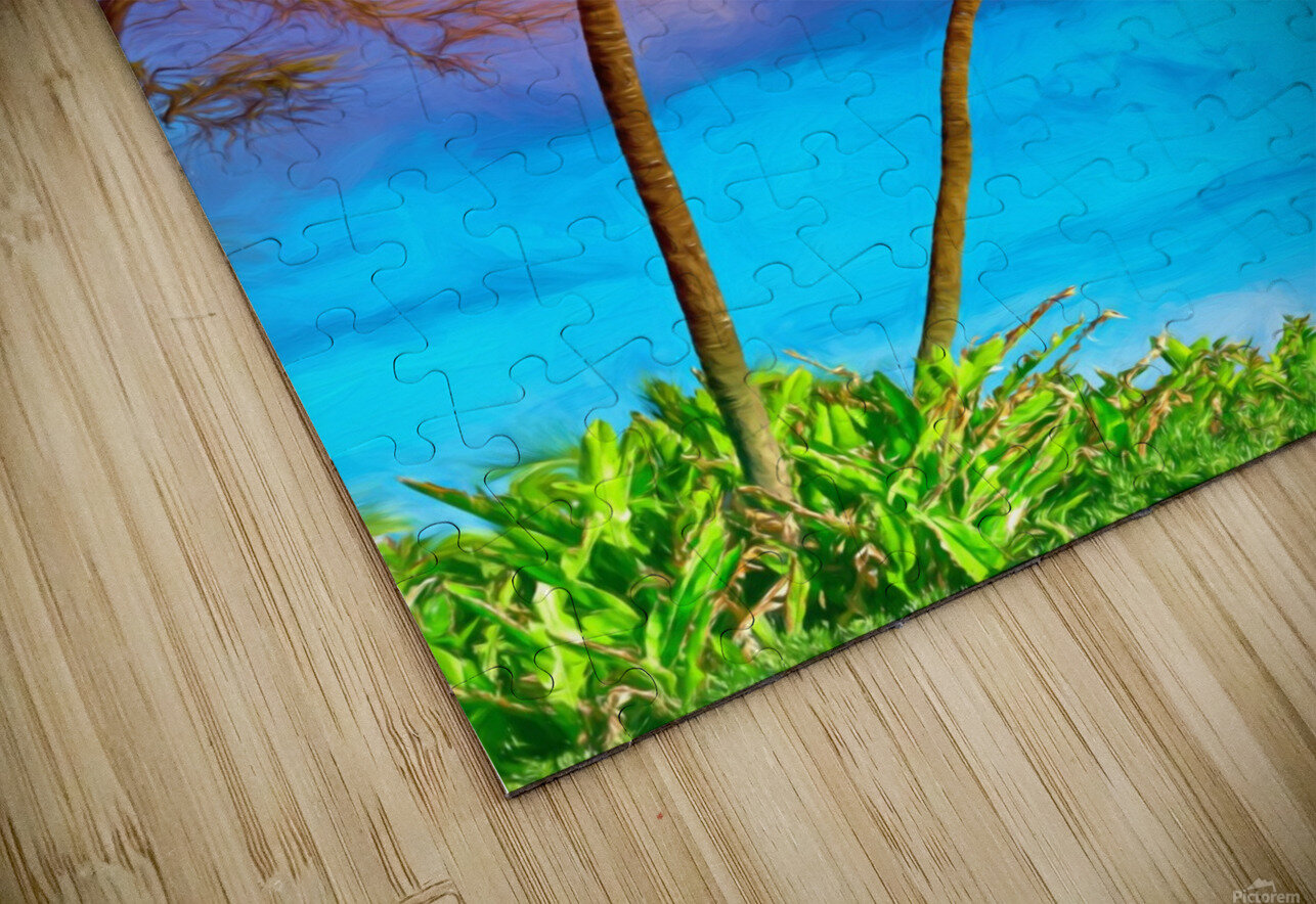 Palms Against The Sky HD Sublimation Metal print