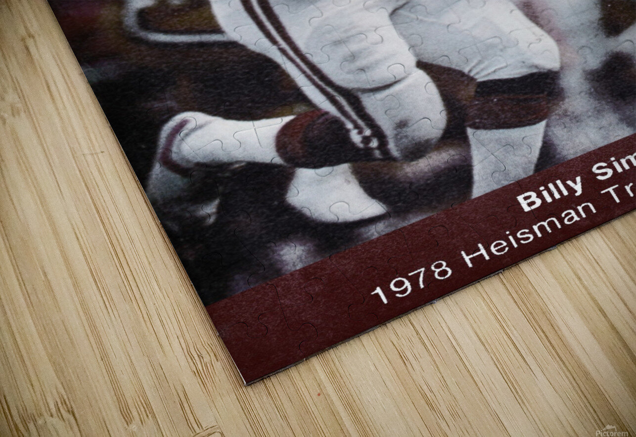1979 billy sims oklahoma sooners football poster HD Sublimation Metal print