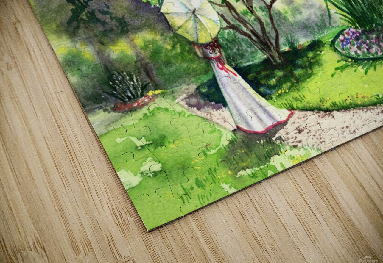 Strolling In The Garden HD Sublimation Metal print