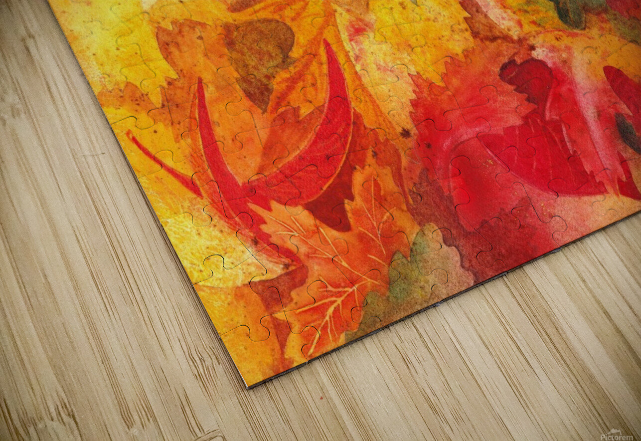 Autumn leaves Serenade  HD Sublimation Metal print