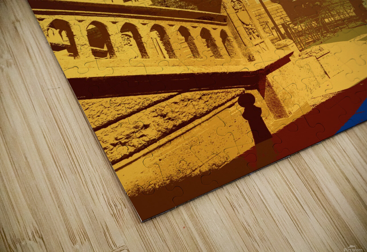 Dreams of Cannes France in Retro Behemian Style HD Sublimation Metal print