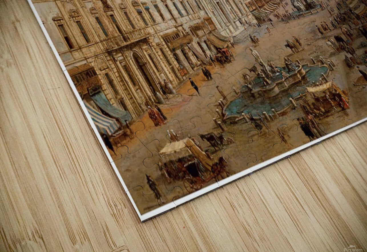 The Piazza Navona HD Sublimation Metal print