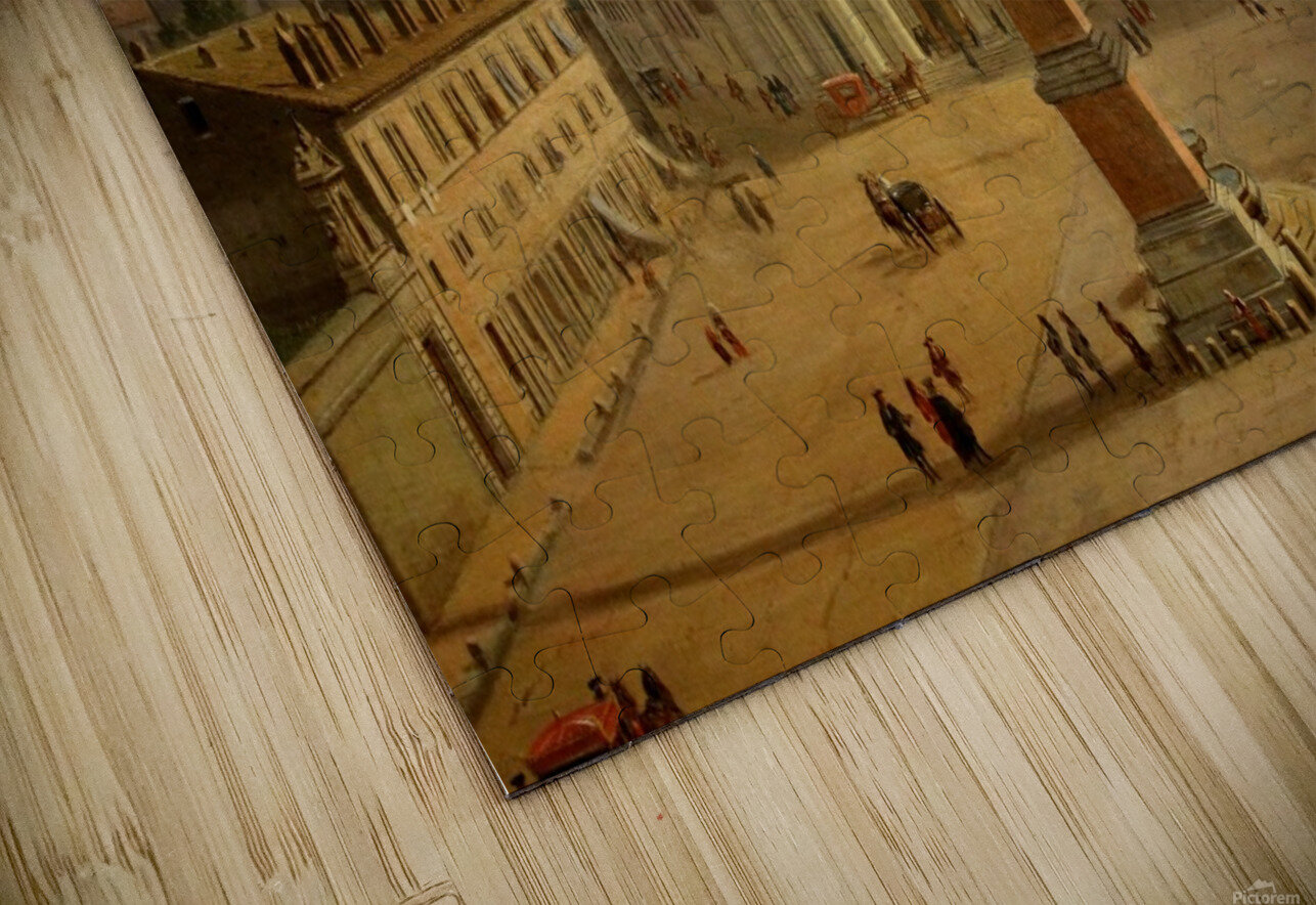 Veduta di Piazza del Popolo a Roma HD Sublimation Metal print