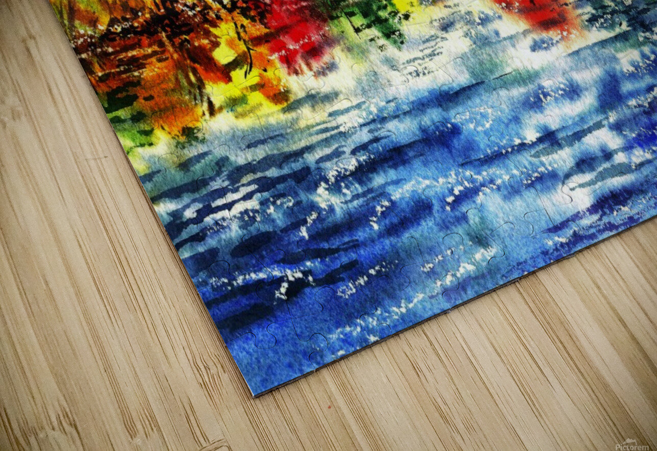 Fall Reflections HD Sublimation Metal print
