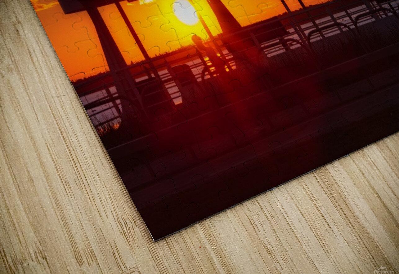 Coucher de  soleil sur Rimouski Impression de sublimation métal HD