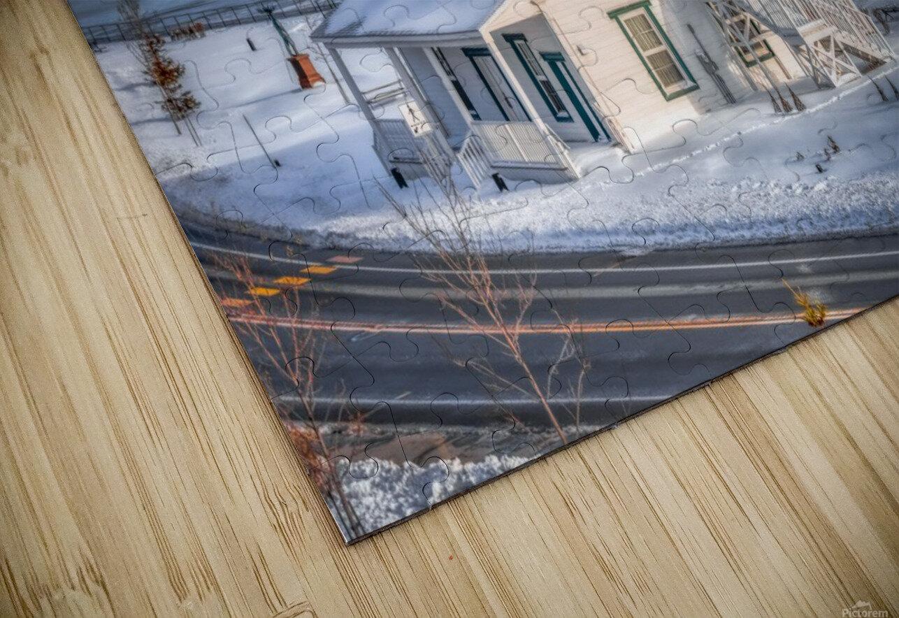 Premiere neige sur Gaspe HD Sublimation Metal print