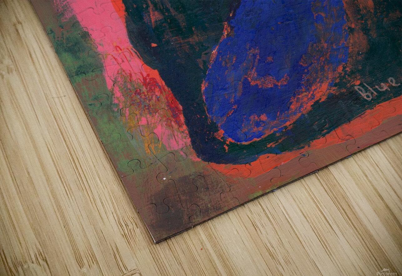Blue Vase Large Flower HD Sublimation Metal print