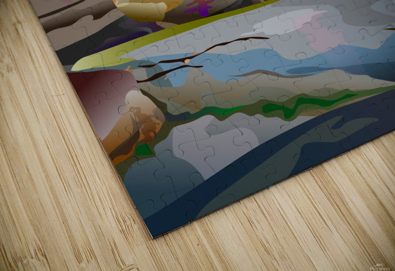 Box Canyon HD Sublimation Metal print