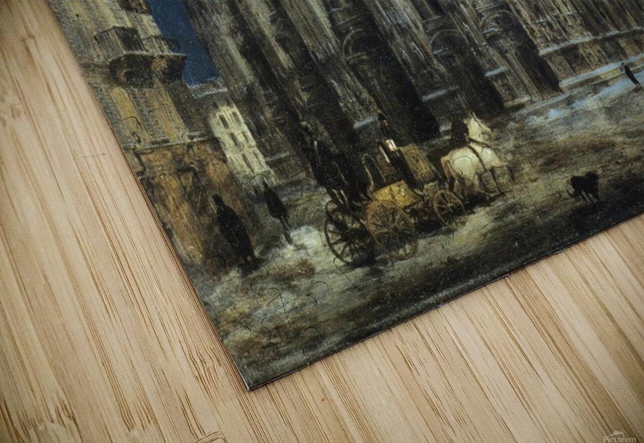 Notturno di Piazza del Duomo a Milano HD Sublimation Metal print