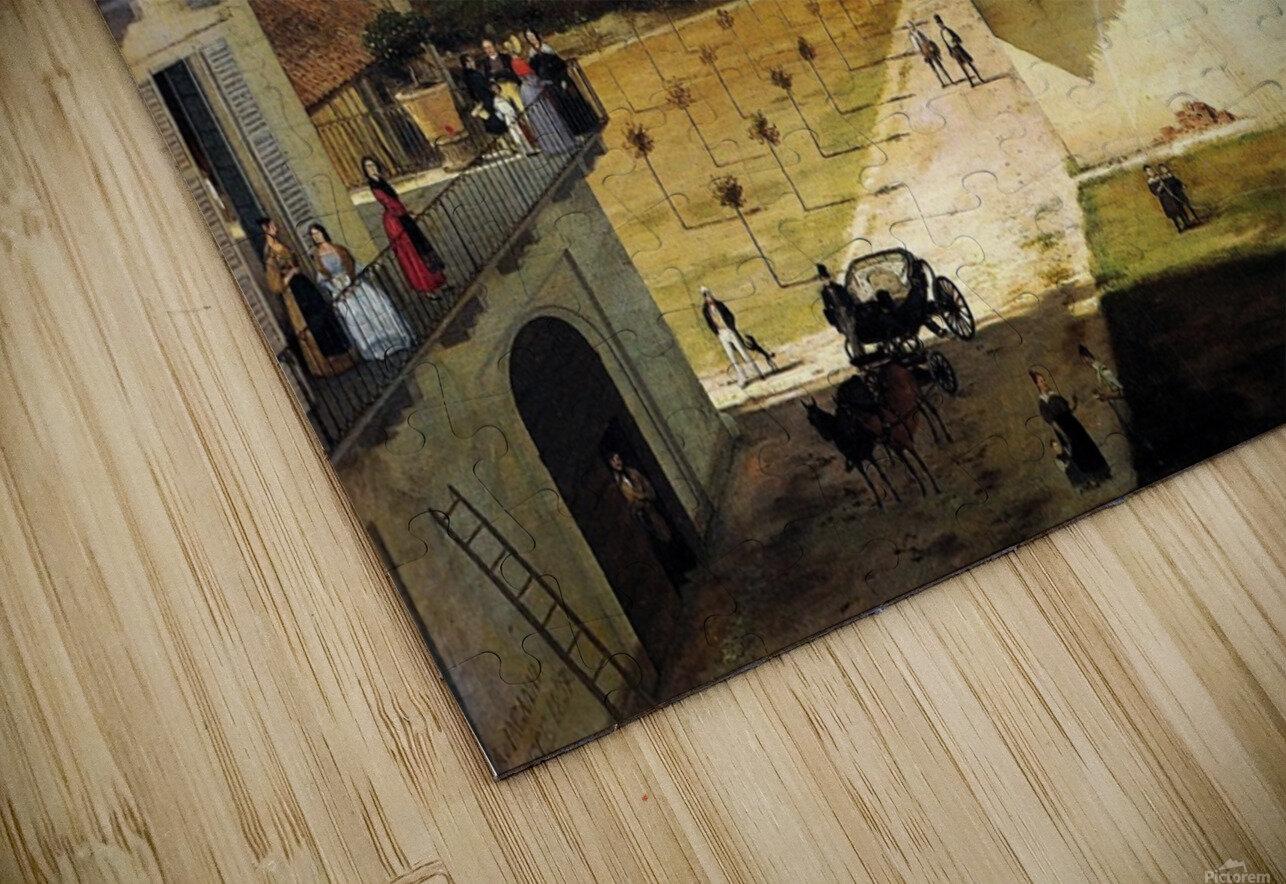 Veduta del Naviglio di San Marco dalla terrazza di Ca Medici, Milano, 1837 HD Sublimation Metal print