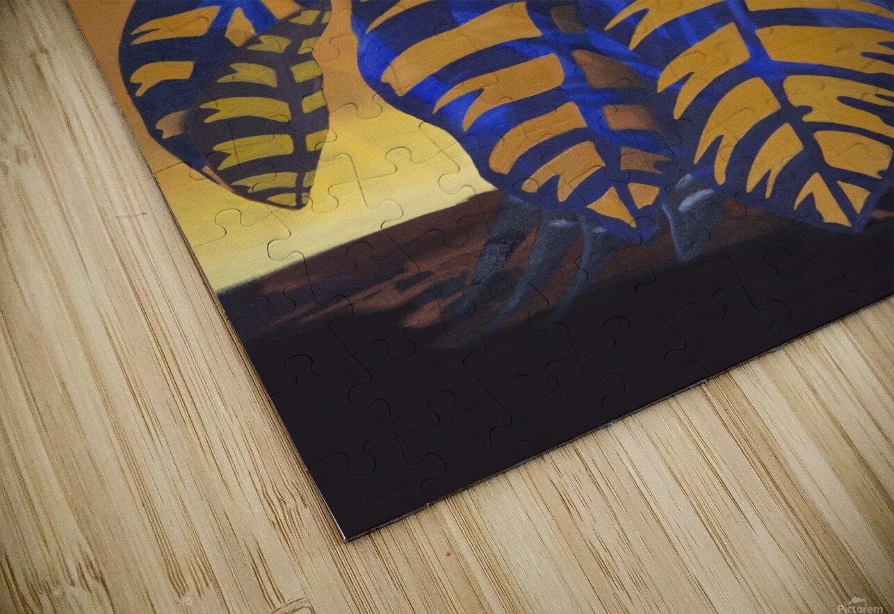 Blue Phoenix HD Sublimation Metal print