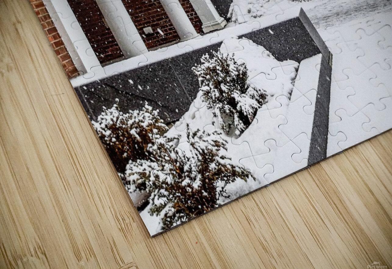 North Hall- Winter HD Sublimation Metal print