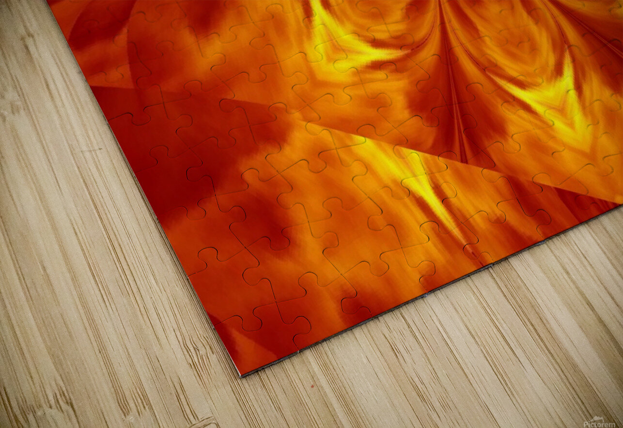 Fire Flowers 7 HD Sublimation Metal print