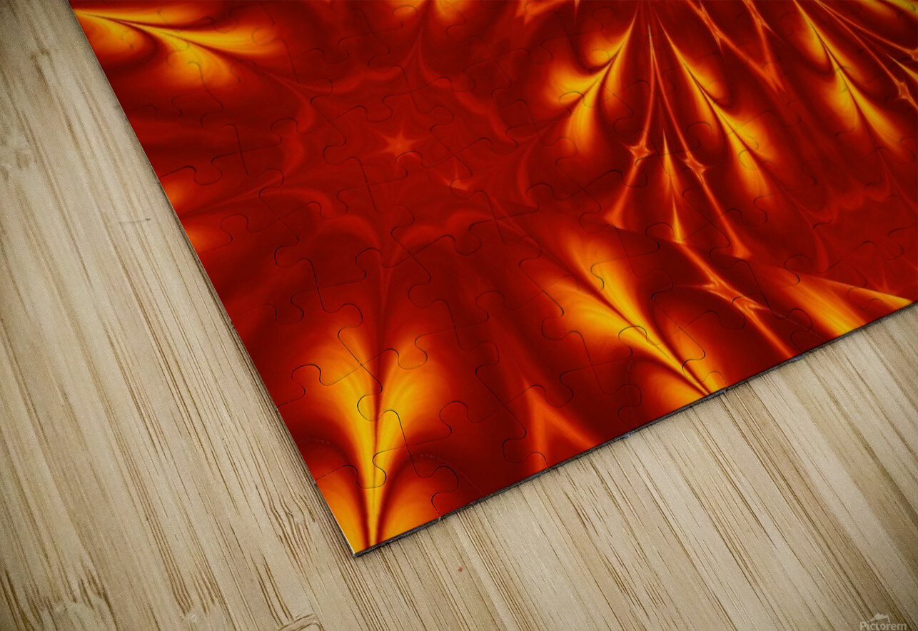 Fire Flowers 9 HD Sublimation Metal print