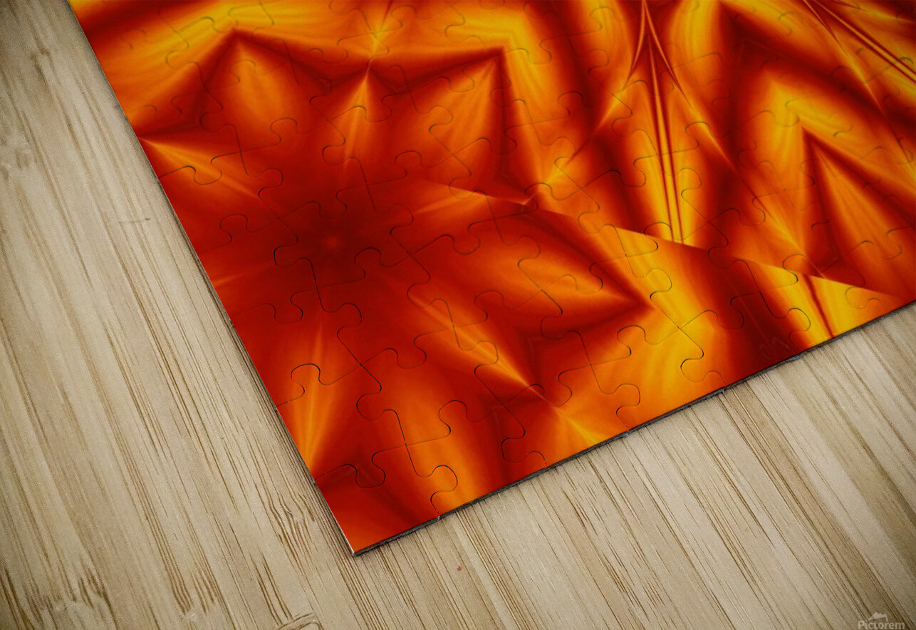 Fire Flowers 13 HD Sublimation Metal print