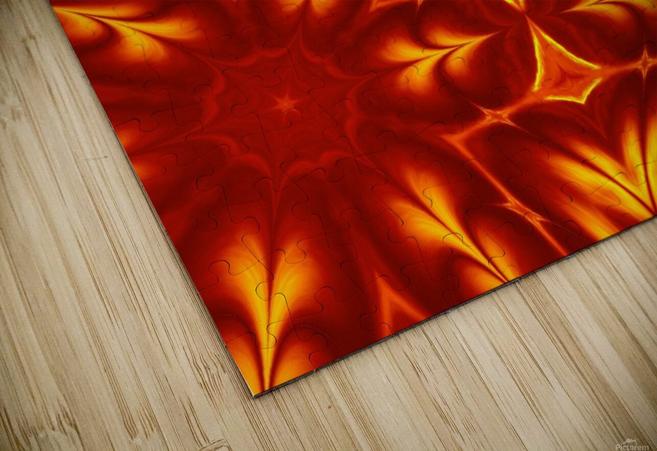 Fire Flowers 14 HD Sublimation Metal print