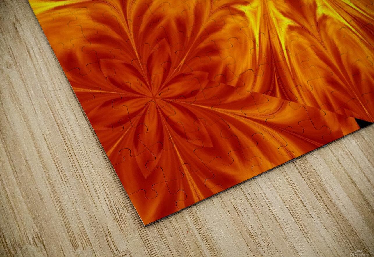 Fire Flowers 69 HD Sublimation Metal print