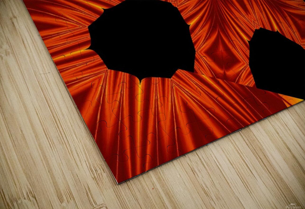 Fire Flowers 105 HD Sublimation Metal print