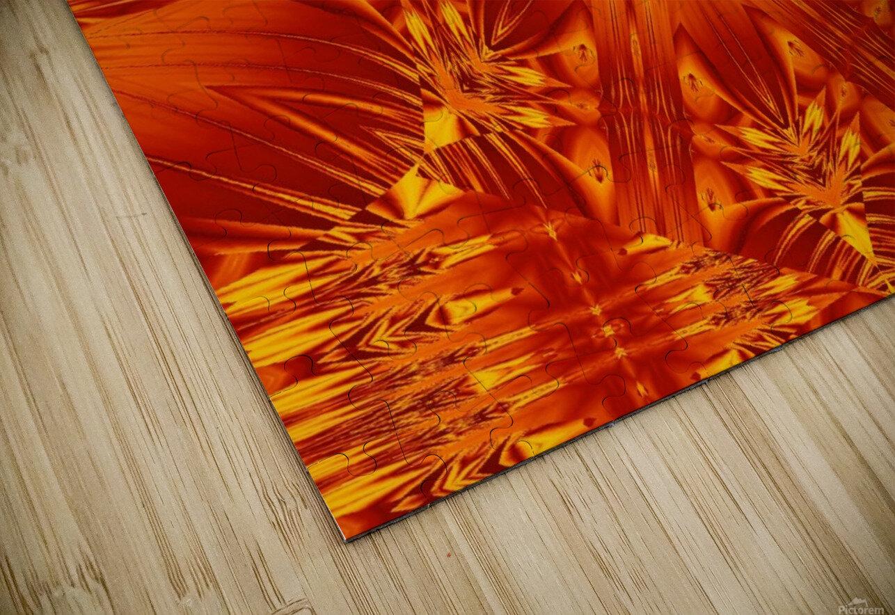Fire Flowers 141 HD Sublimation Metal print