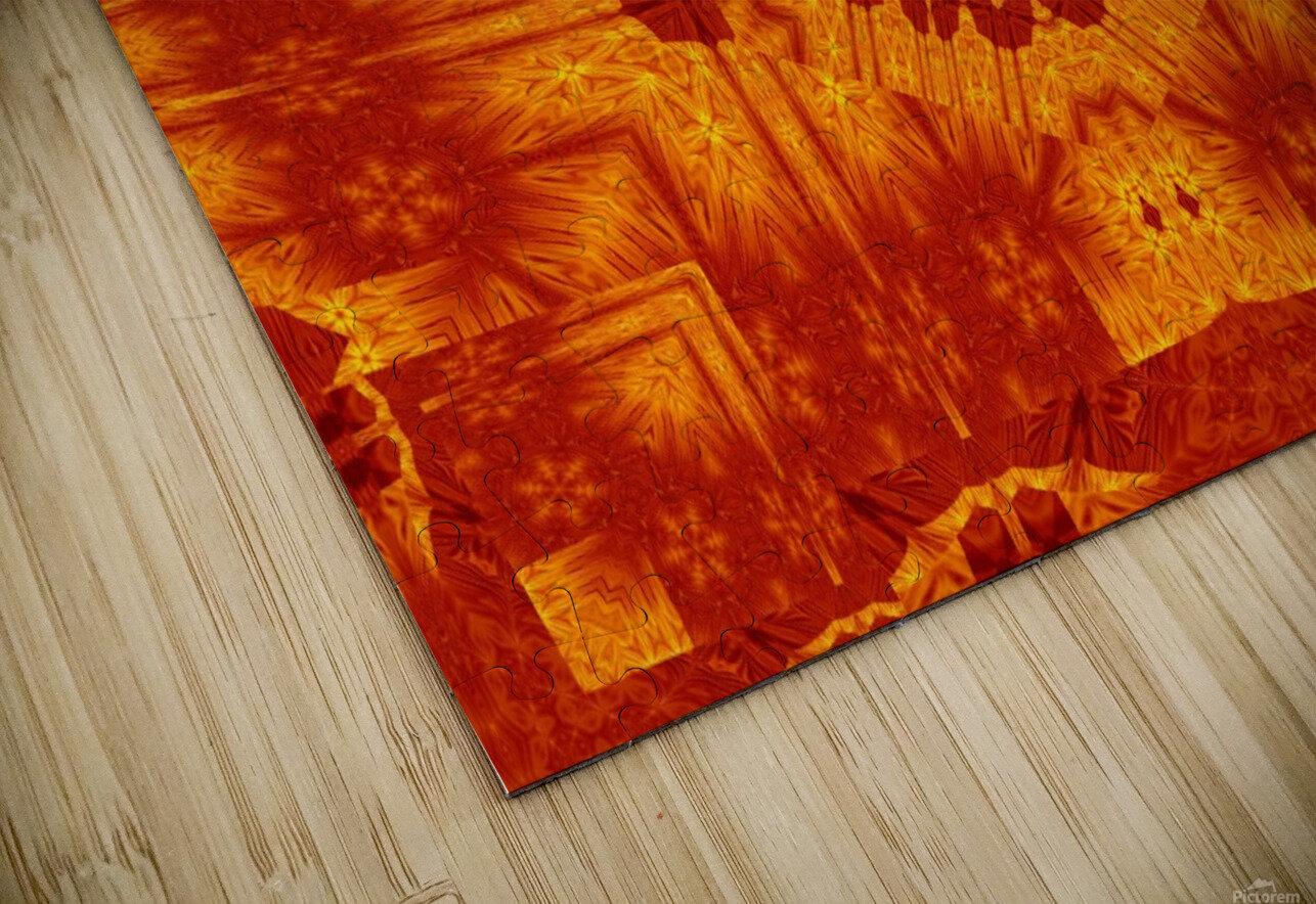 Fire Flowers 154 HD Sublimation Metal print