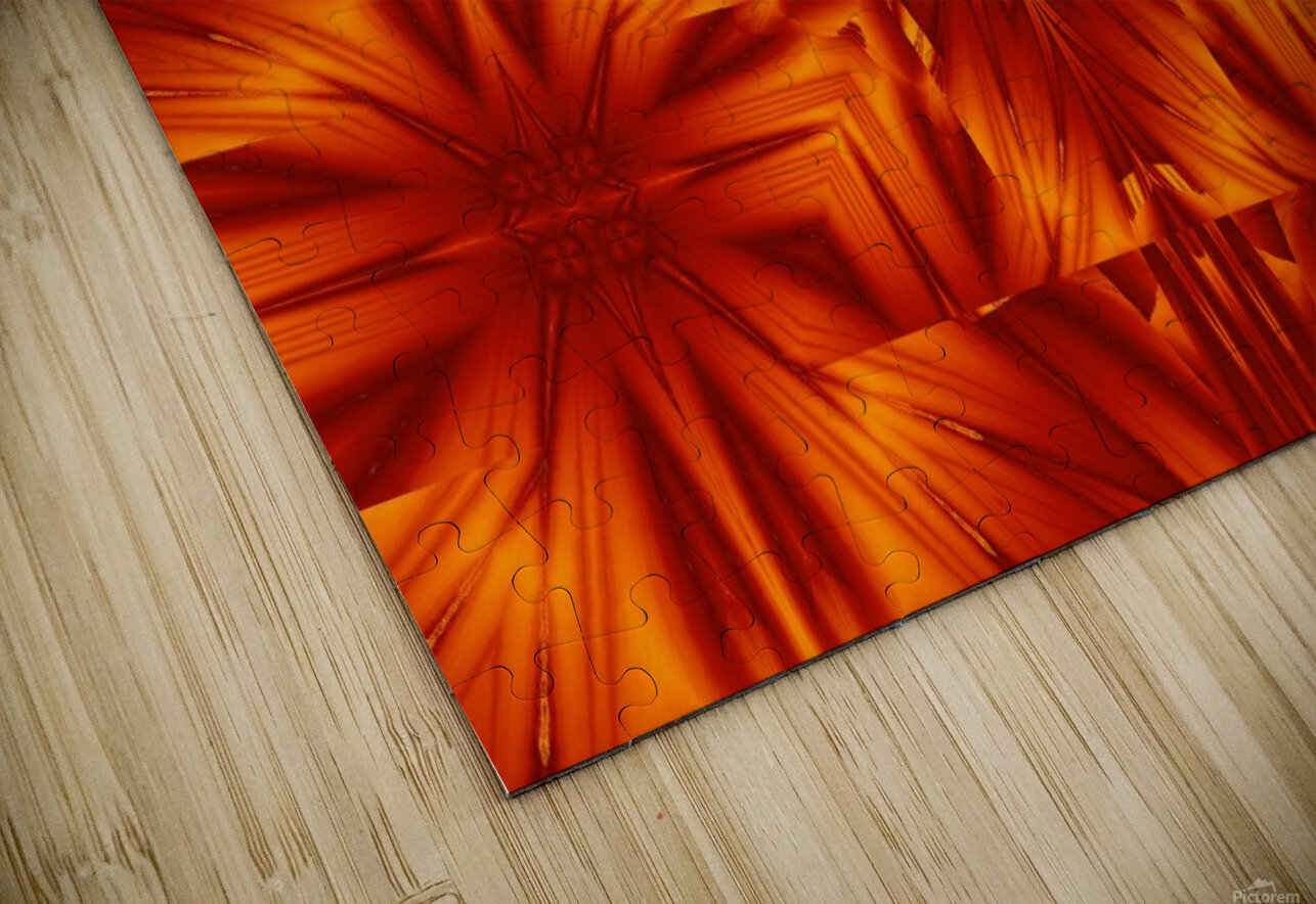 Fire Flowers 191 HD Sublimation Metal print