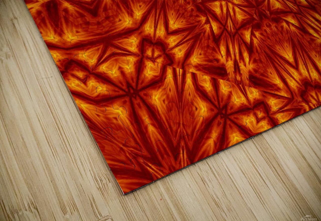 Fire Flowers 207 HD Sublimation Metal print