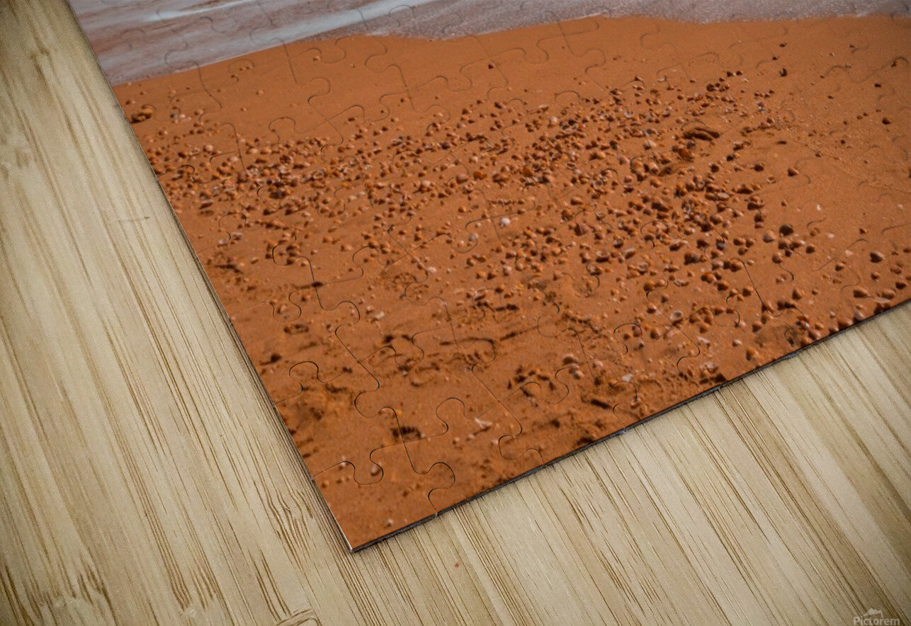 Ocean Beach in Teal and Orange HD Sublimation Metal print
