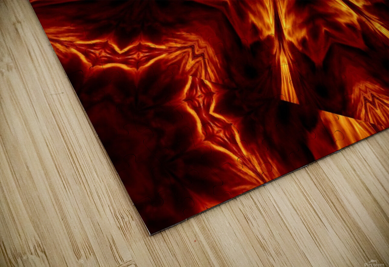 Eternal Flame Flowers 1 HD Sublimation Metal print