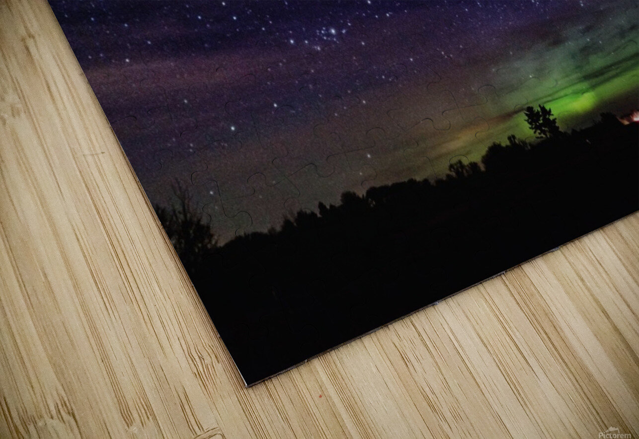 Northern Lights MN 2 HD Sublimation Metal print