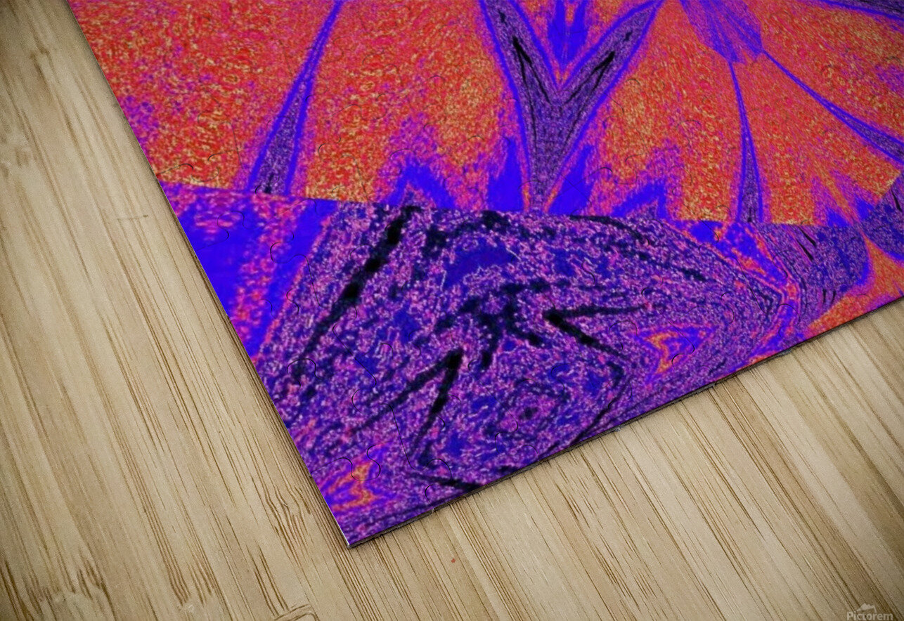 Purple Butterfly In Sunshine 1 HD Sublimation Metal print