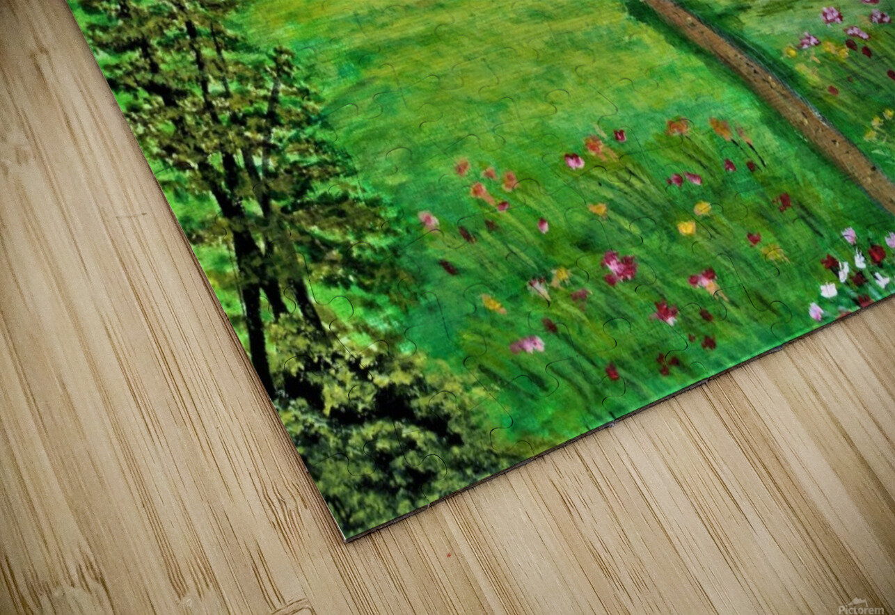Sweet Little Home on Plains HD Sublimation Metal print