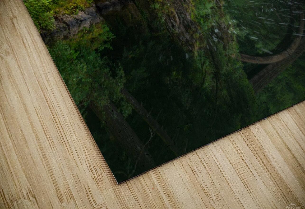 Wooden Bridge HD Sublimation Metal print