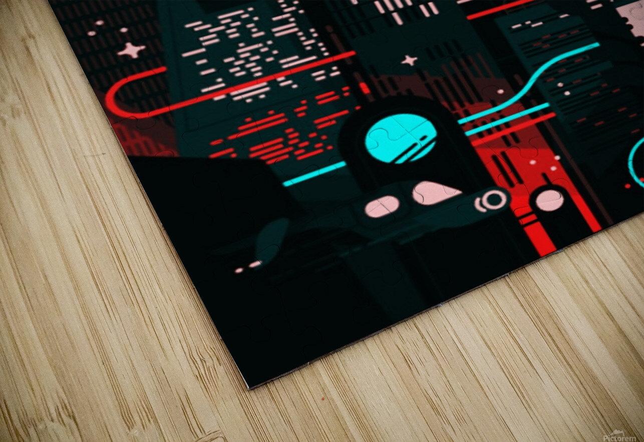 Neon City HD Sublimation Metal print