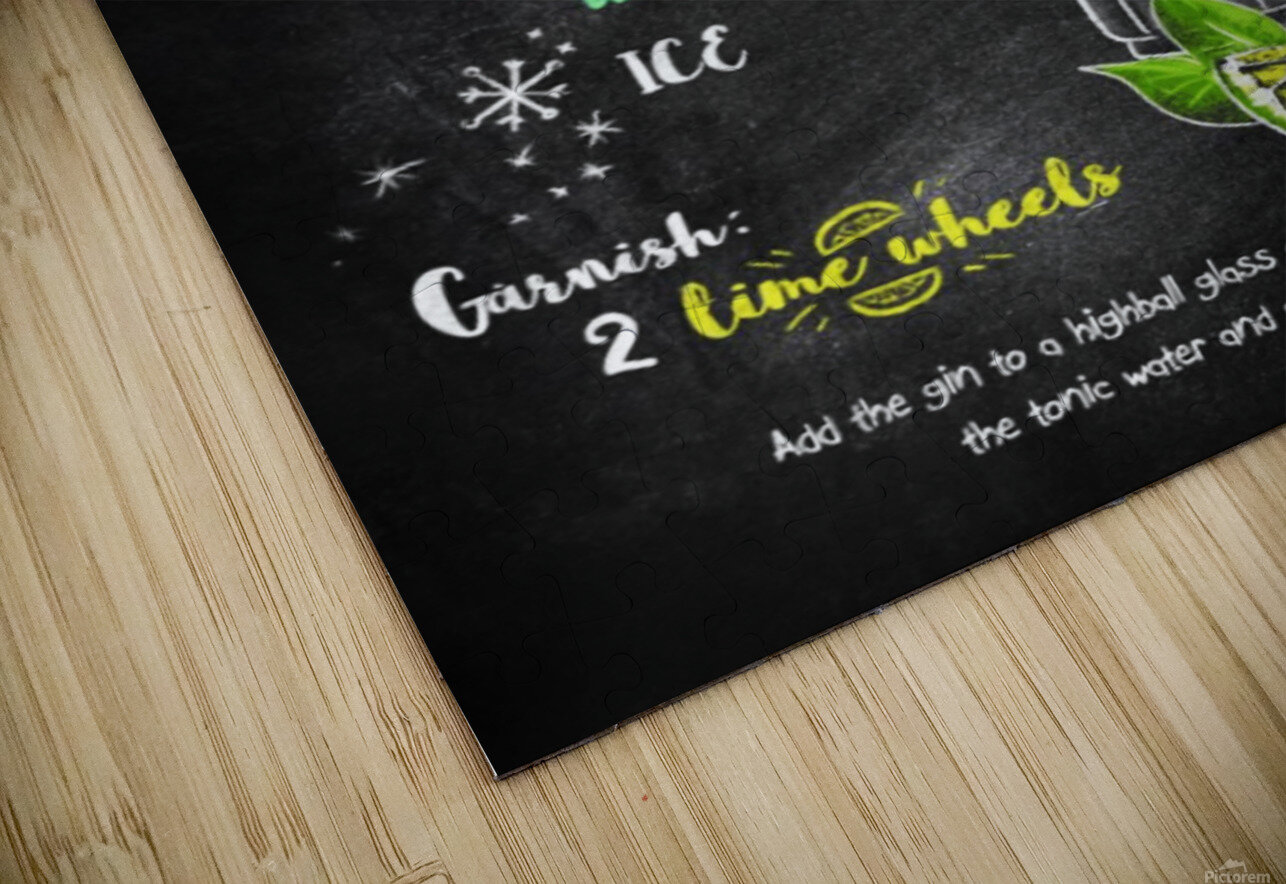 Gin and Tonic HD Sublimation Metal print