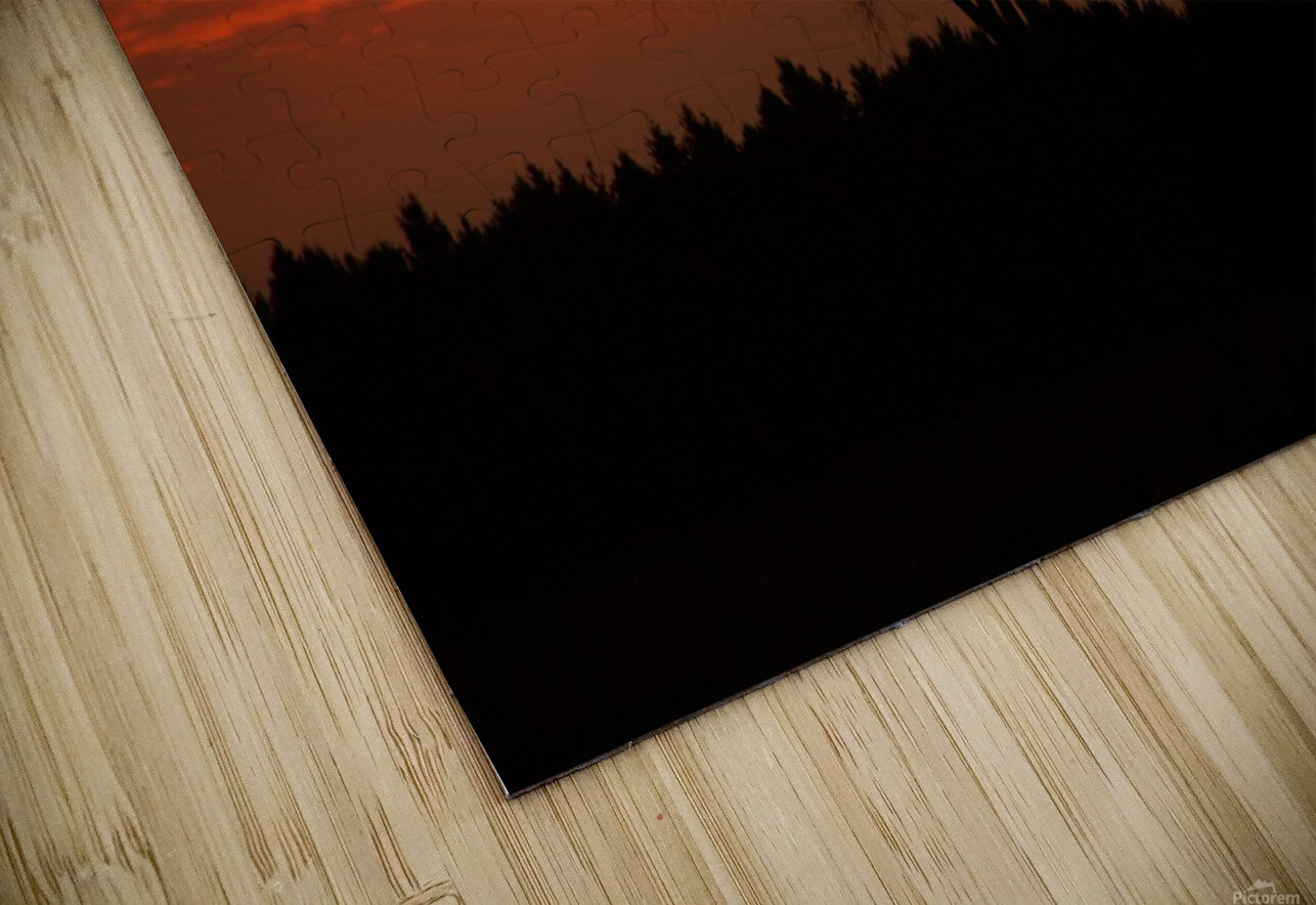 Wisconsin November Sunset Wood County HD Sublimation Metal print