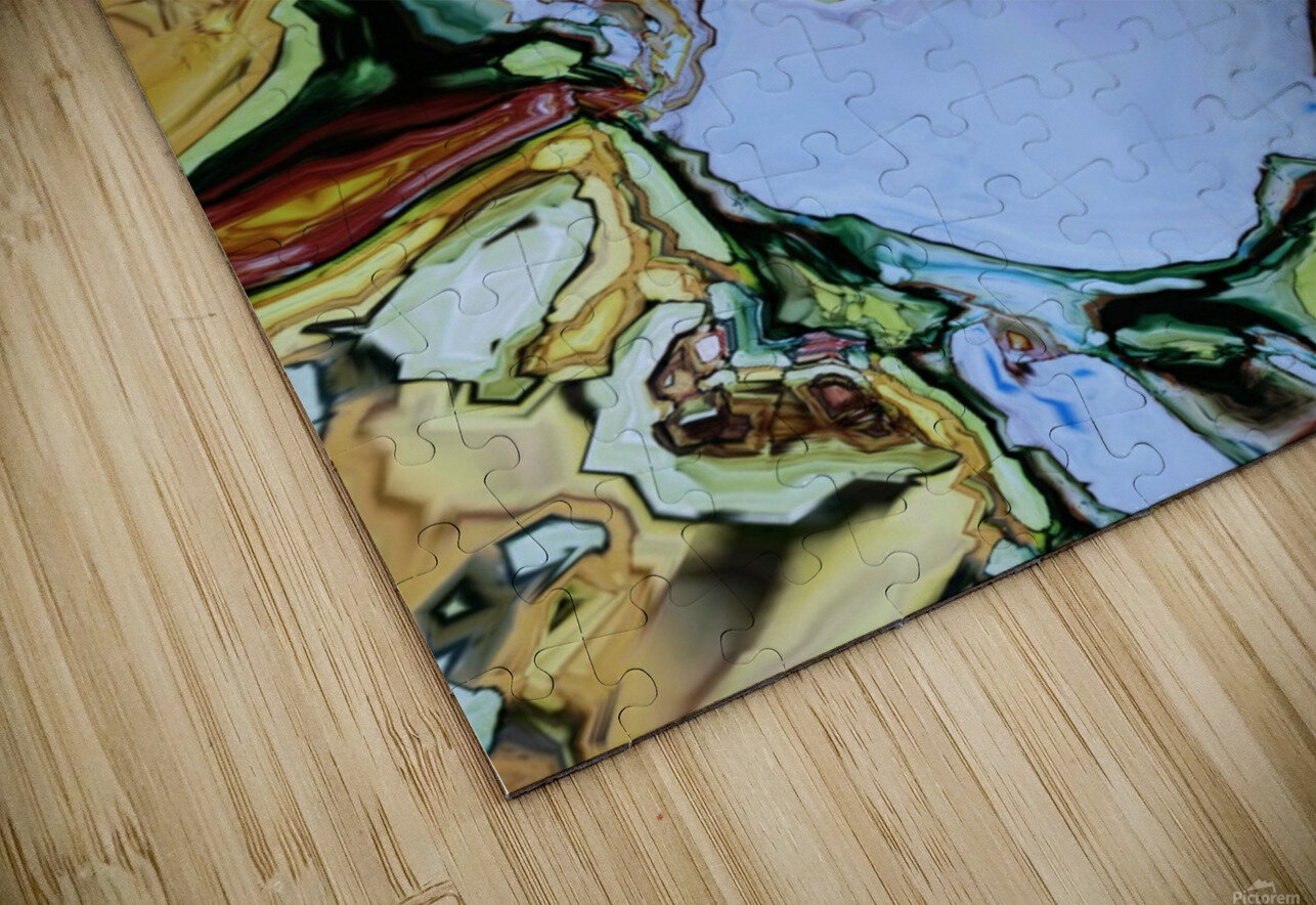 The runner HD Sublimation Metal print