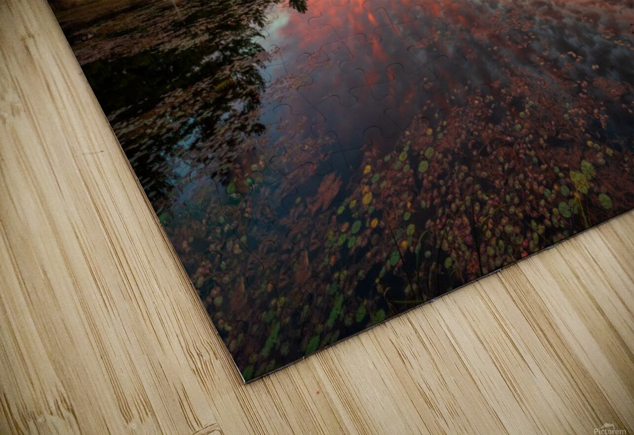 Mountain Rd Pond HD Sublimation Metal print