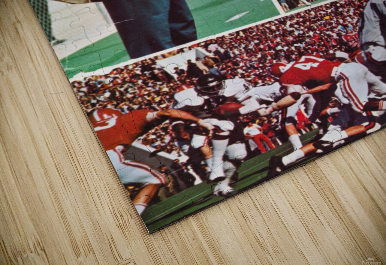 1974 Alabama Football Print HD Sublimation Metal print