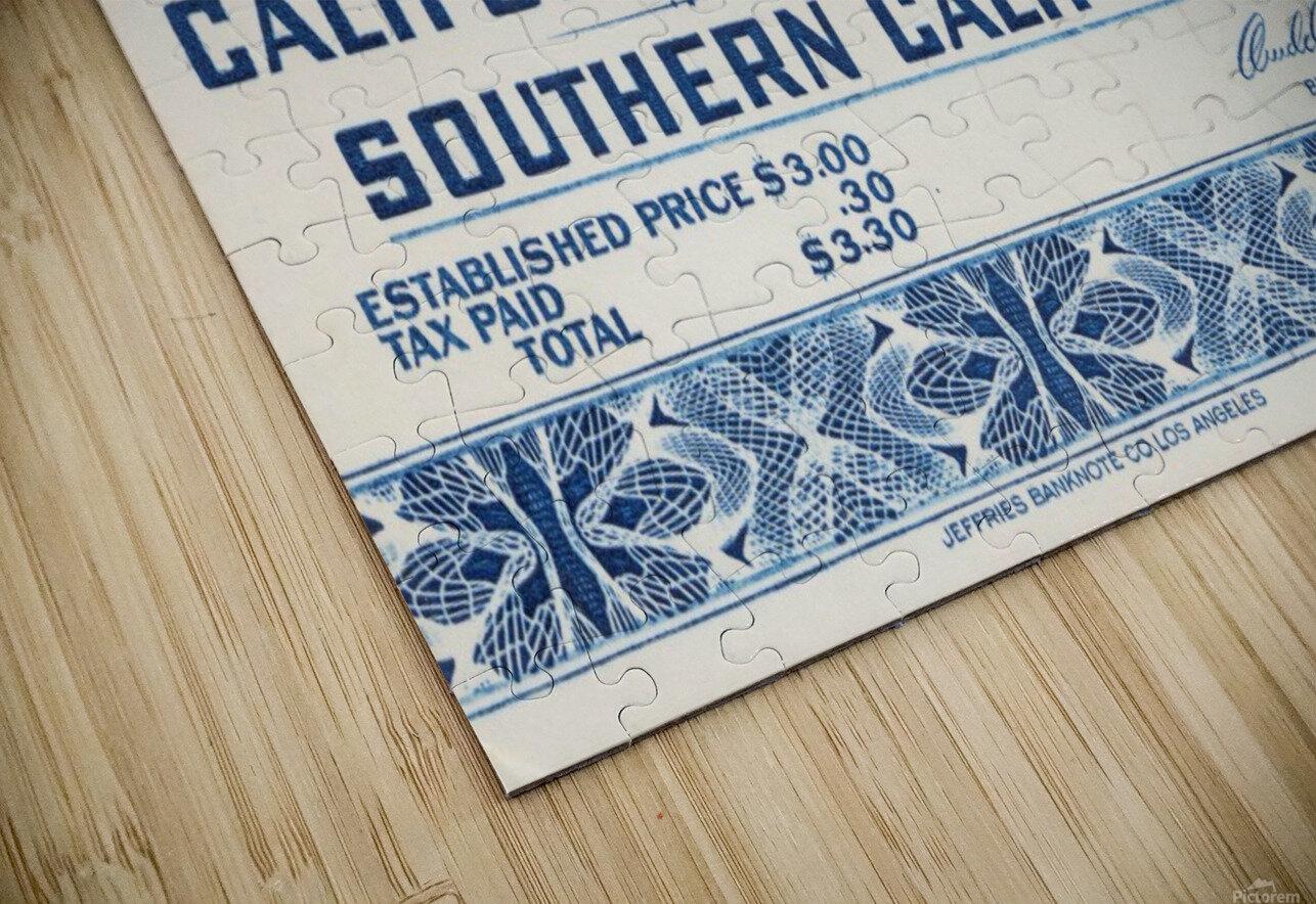 1940 USC vs. UCLA HD Sublimation Metal print