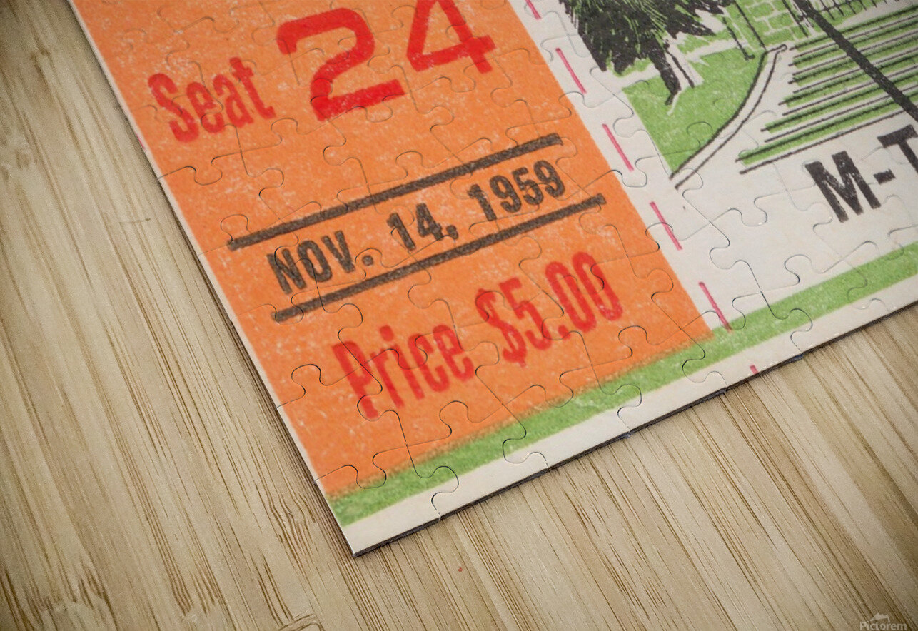 1959 Mississippi vs. Tennessee HD Sublimation Metal print