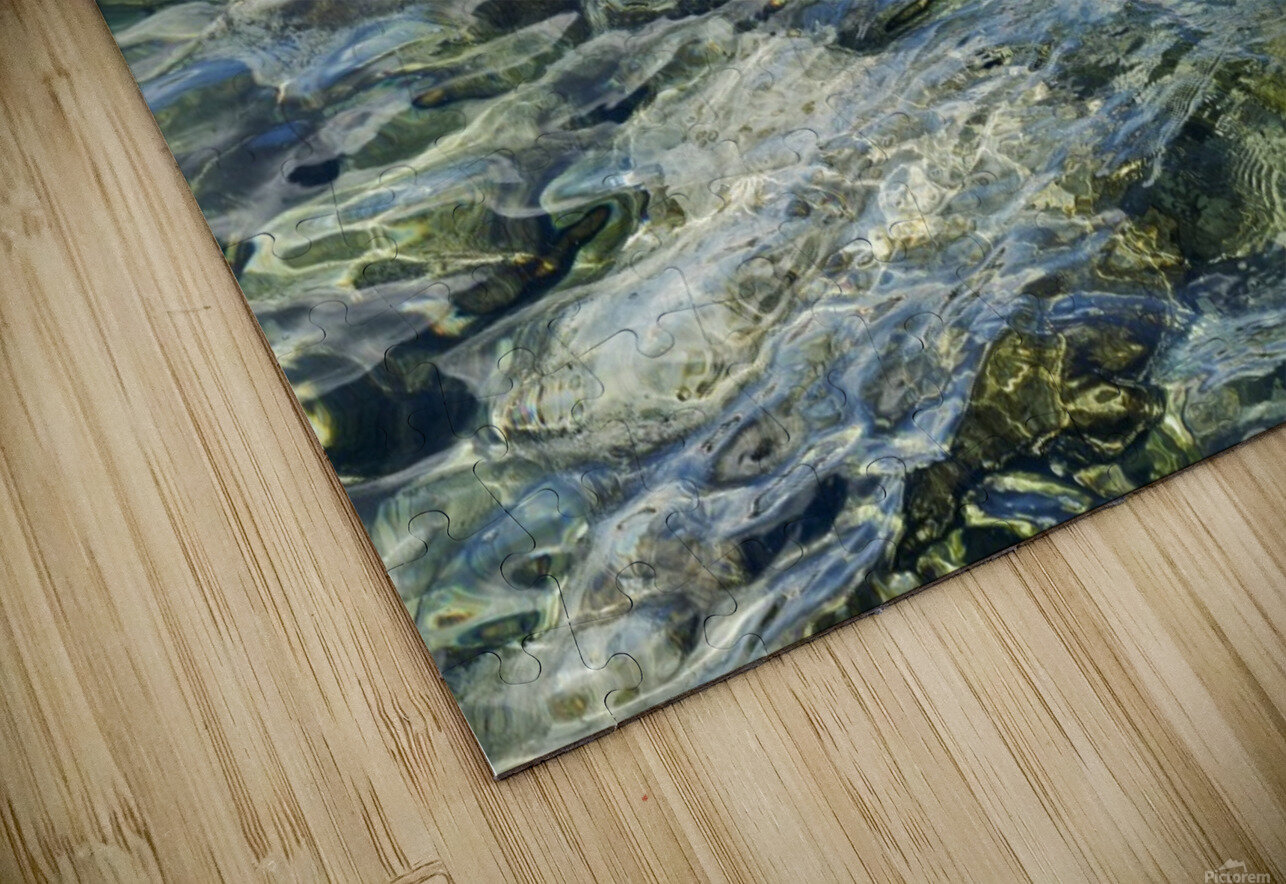 Close up of water on shore of slovenian resort town Piran Slovenia HD Sublimation Metal print