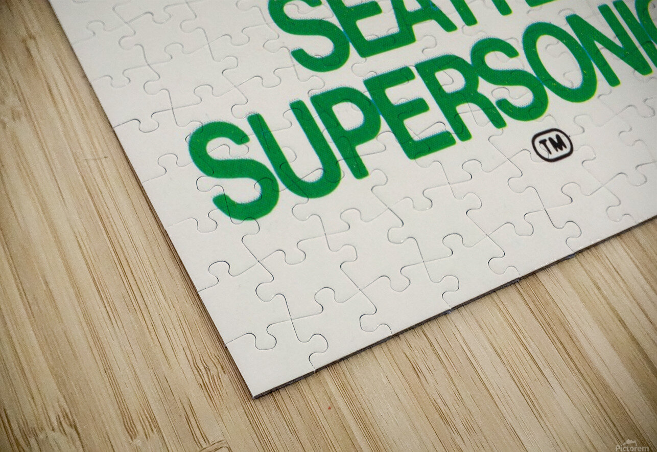 1979 Seattle Supersonics Fleer Decal HD Sublimation Metal print