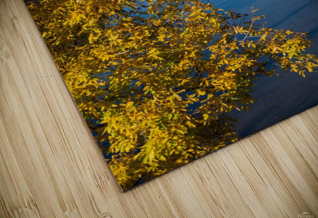 Harpersfield Ohio covered bridge autumn 2020 HD Sublimation Metal print